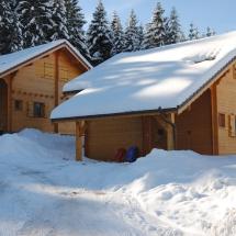 Chalets gerardmer sous la neige